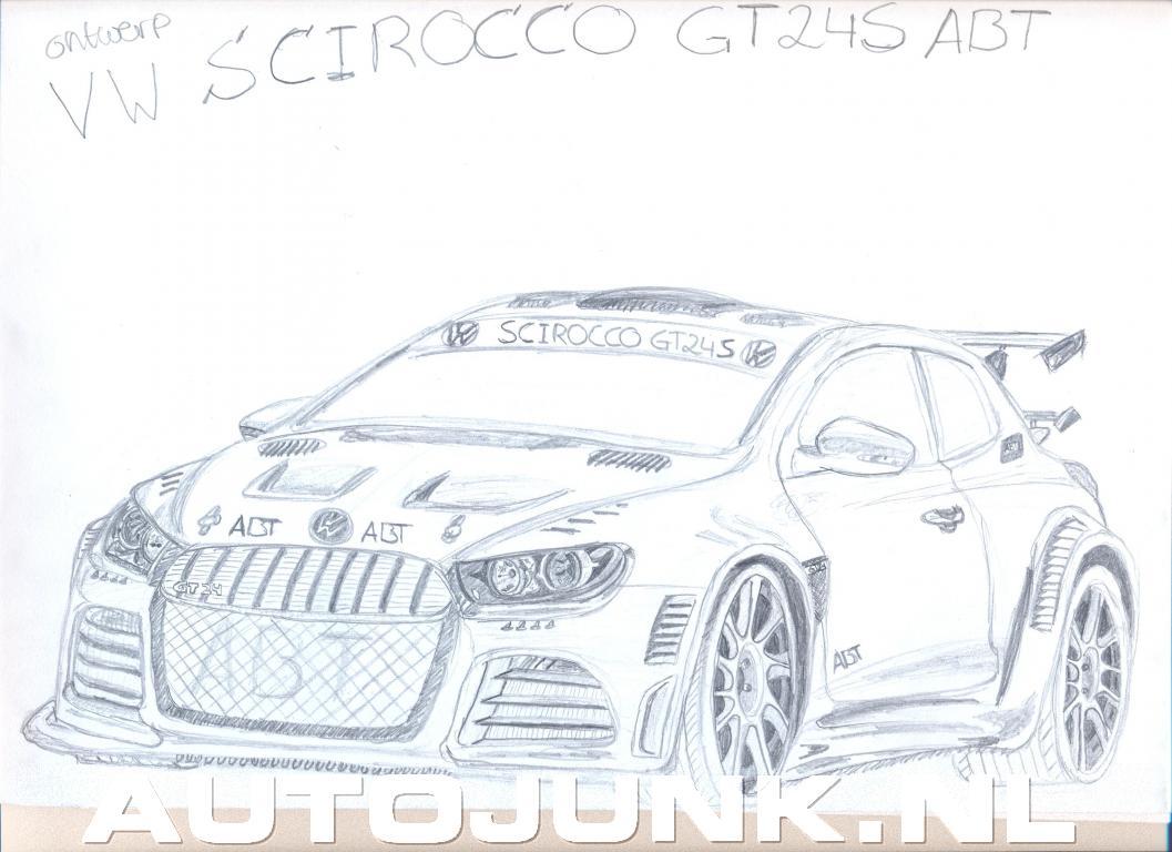 Ferrari California En Volkwagen Scirocco Gt24 Sche Foto S