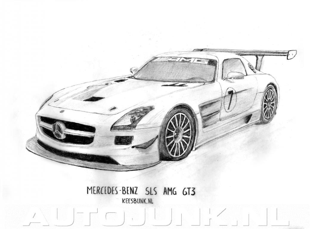 Mercedes Benz Sls Amg Gt3 Tekening Foto S 187 Autojunk Nl