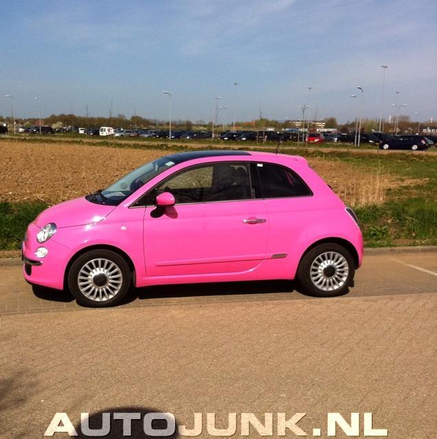 Roze Fiat 500 fotos » Autojunk.nl (67009)