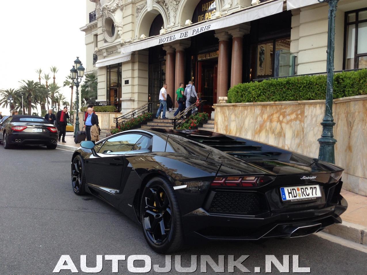 Blacked Out Lamborghini Aventador