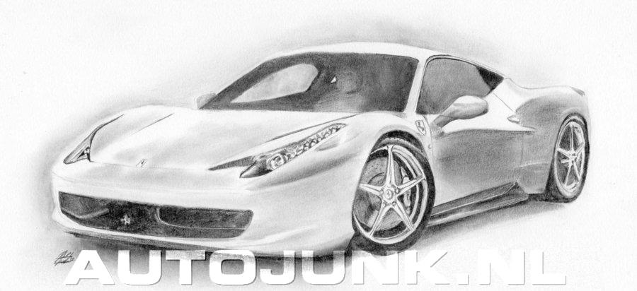 Zelf Een 458 Italia Getekend Foto S 187 Autojunk Nl 100926