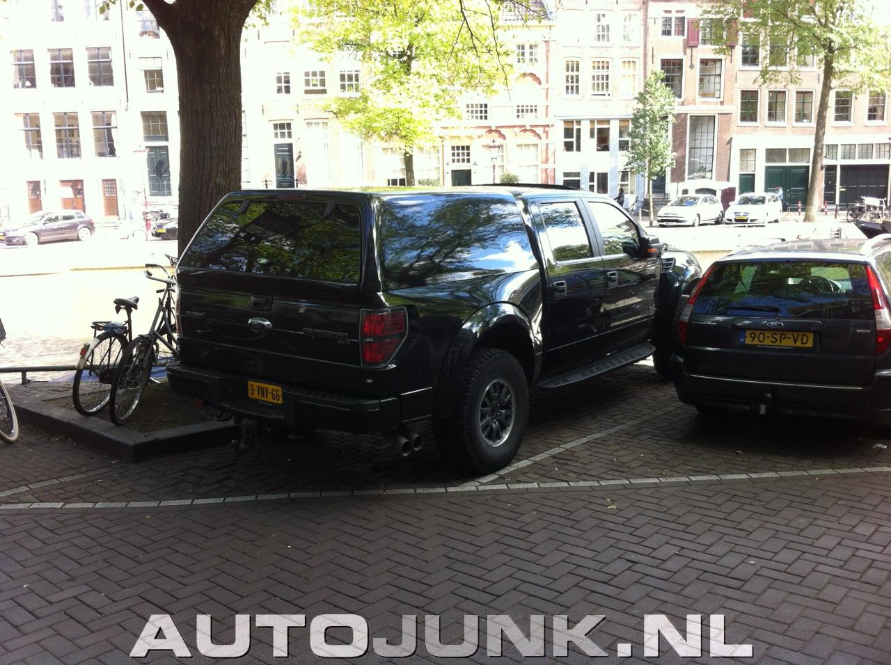 Ford Transit 150 >> VWVortex.com - THIS is how you park a Ford Raptor in Amsterdam