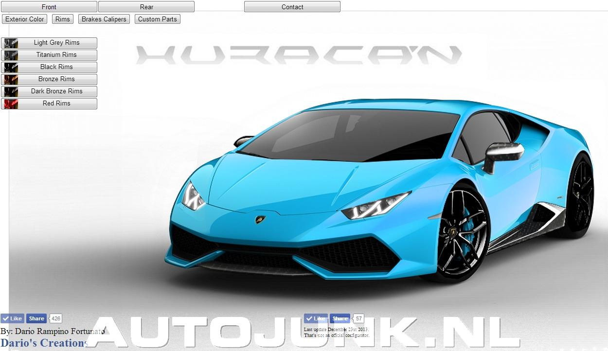 my lamborghini hurac n configurator foto 39 s. Black Bedroom Furniture Sets. Home Design Ideas