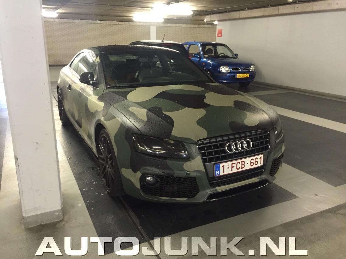 Audi A5 Met Camouflage Wrap Foto S 187 Autojunk Nl 142974
