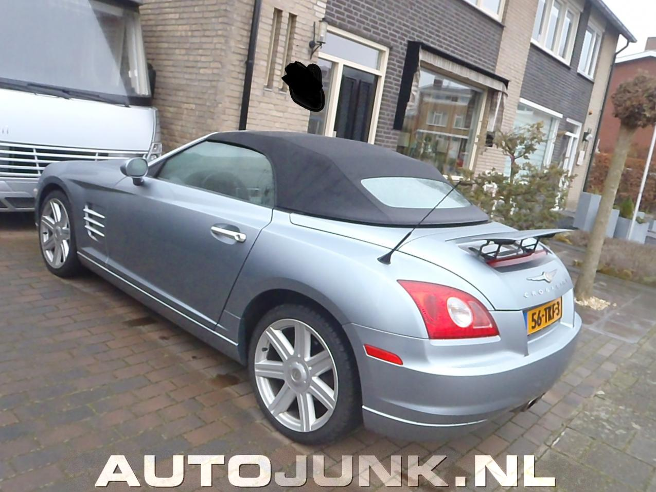 2004 chrysler crossfire cabrio grijs foto 39 s. Black Bedroom Furniture Sets. Home Design Ideas